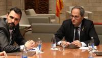 Roger Torrent, president del Parlament, i Quim Torra, president de la Generalitat