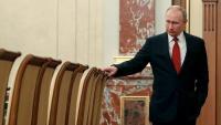Putin, abans de la reunió amb el govern, el dia que li va presentar la dimissió, el 15 de gener passat