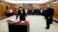 Iglesias prenent possessió del càrrec a La Zarzuela el 13 de gener passat