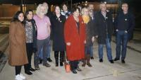 Eurodiputats a la porta de Lledoners el passat 23 de gener
