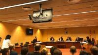 L'inici de la sessió d'ahir, a la secció quarta de l'Audiència de Girona