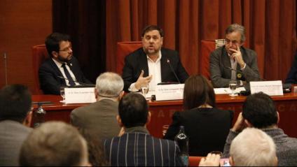 Oriol Junqueras a la Comissió del 155 al Parlament