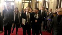 Jordi Turull al Parlament amb Aragonès i Torra