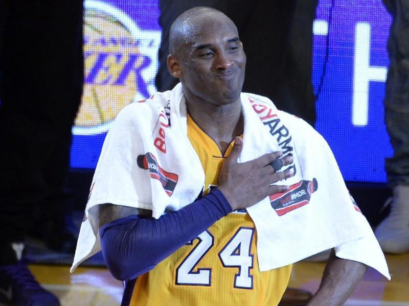 Bryant, el dia de la seva retirada amb els Lakers