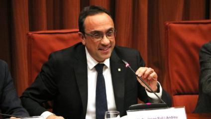 Josep Rull durant la seva participació en la comissió del 155