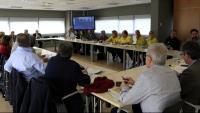 Reunió del Comitè d'Anàlisi i Seguiment de Malalties Transmissibles Emergents d'Alt Risc a l'Agència de Salut Pública de Catalunya, per aprovar el protocol d'actuació davant de casos sospitosos del nou coronavirus