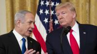 Trump i Netanyahu, ahir a la Casa Blanca, en la presentació del pla de pau dels EUA per al Pròxim Orient