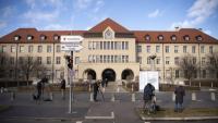 Exterior de l'hospital bavarès on està sent tractat el primer cas d'infecció local de coronavirus a Europa