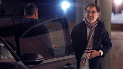 Jordi Cuixart torna a la presó de Lledoners després de gaudir del seu primer permís penitenciari el passat dia 19 de gener