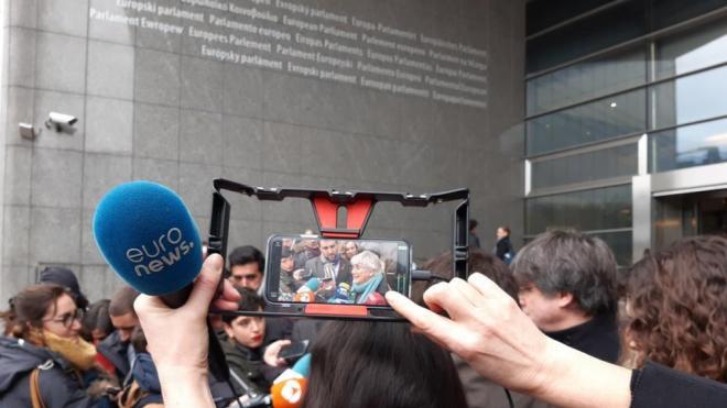 Ponsatí, el dia que li van lliurar la credencial d'eurodiputada