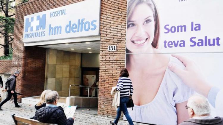 Imatge de la façana de l'Hospital HM Delfos de Barcelona , que va adquirir el grup HM Hospitales per 30 milions d'euros.