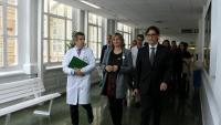La consellera Alba Vergés i el ministre Salvador Illa, abans d'informar sobre el coronavirus, aquest mes