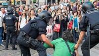 Desallotjament de la plaça Catalunya, a Barcelona