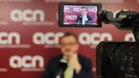 El conseller d'Acció Exterior, Alfred Bosch, durant l'entrevista amb l'ACN