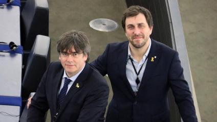 Puigdemont i Comín al Parlament d'Estrasburg