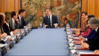 Felip VI a la reunió extraordinària del consell de ministres a la Zarzuela