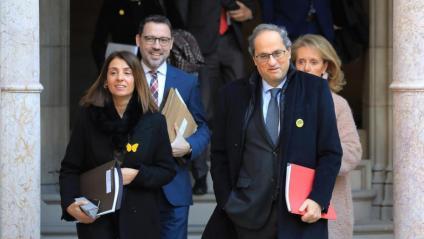 Budó i Torra a l'arribada a la reunió del Govern