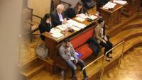 Els dos acusats, Albert López i Rosa Peral, durant una de les sessions del judici