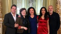El tenor Paolo Fanale; la repositora de l'obra, Marie Lambert; les sopranos Stéphanie d'Oustrac i Myrtò Papatanasiu, i el director musical, Philippe Auguin,   fa uns dies al Liceu
