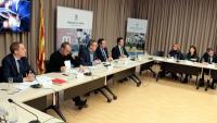 La reunió de la plataforma de la línia ferroviària Lleida Manresa es va fer a la seu de la Diputació de Lleida