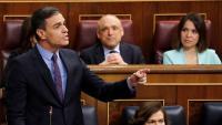 El president espanyol, Pedro Sánxhez, aquest dimecres al Congrés dels Diputats