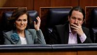 Carmen Calvo i Pablo Iglesias al Congrés dels Diputats