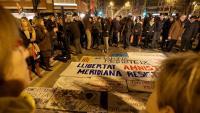Manifestació a la Meridiana