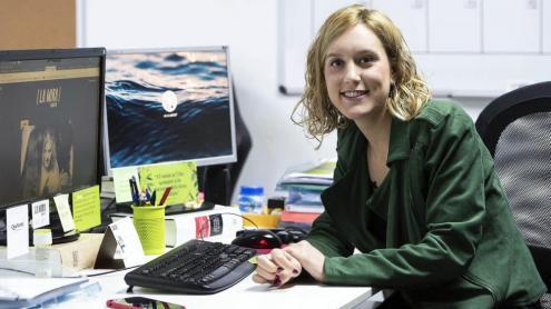 <b>Magda Gregori, </b>a la redacció de 'La Mira'