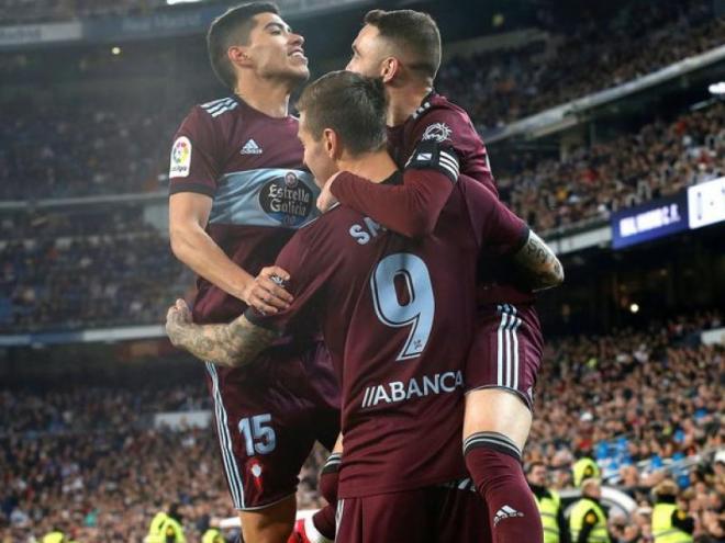 El Celta va acabar somrient al Bernabéu