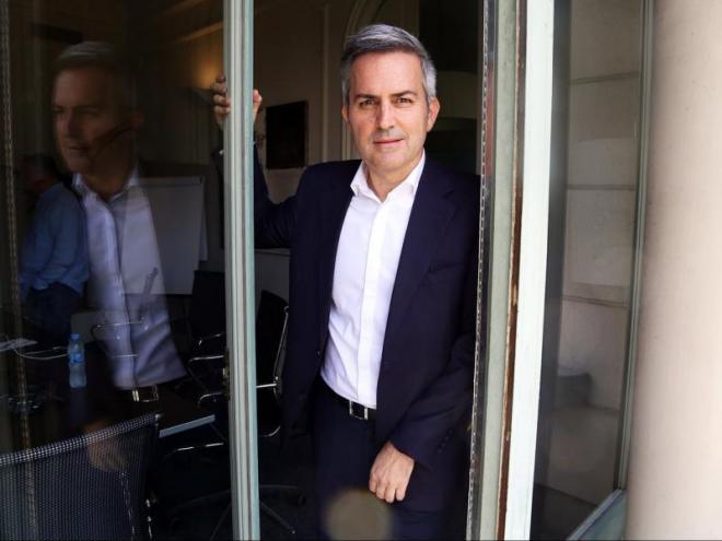 Víctor Font, en una sessió de fotografies per a L'Esportiu