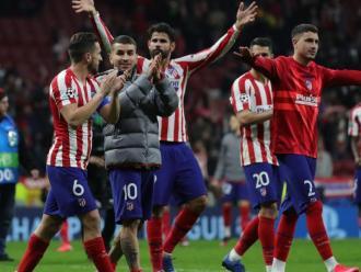 Els jugadors de l'Atlético agraeixen el suport del Wanda Metropolitano