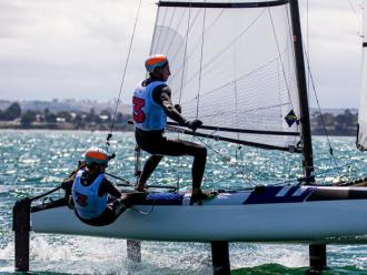 Tamara Pacheco i Florian Trittel en el recent mundial d'Austràlia