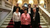 Membres del Conca presents ahir a la comissió de Cultura del Parlament