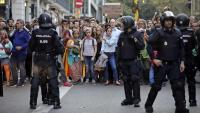 Concentració a la plaça Urquinaona de Barcelona , contra la sentència del Suprem, l'octubre passat
