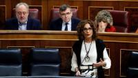 La ministra María Jesús Montero, ahir al Congrés, en el control al govern