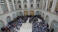 L'acte en què es va presentar el Pacte contra la Segregació Escolar, origen del decret