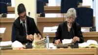 Senyal institucional, del major dels Mossos, Josep Lluís Trapero, i la seva advocada, Olga Tubau, durant el judici a l'Audiencia Nacional