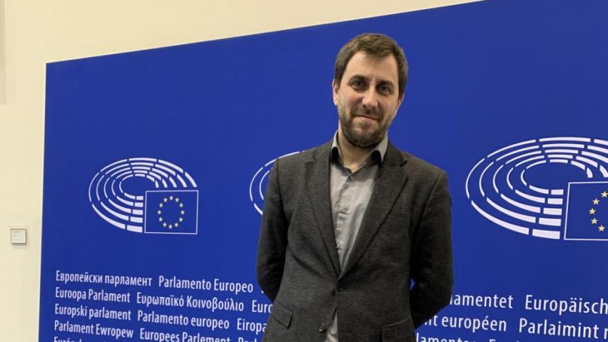 <b>Toni Comín,  </b>al Parlament  Europeu.