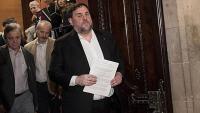 El president d'ERC, Oriol Junqueras, al Parlament