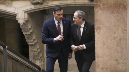 Els presidents Sánchez i Torra, durant la trobada del passat 6 de febrer