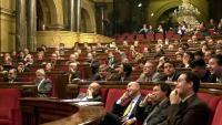Imatge de l'hemicicle parlamentari de l'època que va aprovar les voluntats anticipades