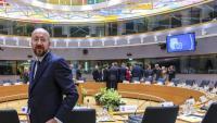 El president del Consell Europeu, Charles Michel, durant la reunió de líders de la UE, ahir a Brussel·les