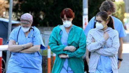 Personal sanitari d'un dels hospitals de la regió del Vèneto, on ha mort un home pel coronavirus