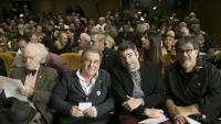 Josep Andreu (ERC), Gerard Sesé (la Crida) , Jordi Pessarrodona (ERC) i, darrere, Eusebi Campdepadrós (JxCat), membre de la mesa del Parlament