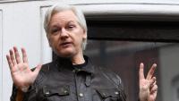 Julian Assange en una imatge del 2017 quan estava a l'ambaixada d'Equador a Londres