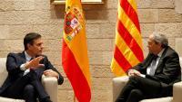 Pedro Sánchez i Quim Torra encapçalaran les dues parts en la taula de negociació