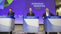 La roda de premsa per informar sobre el resultats del paquet d'hivern del Semestre Europeu