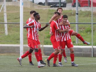 El juvenil de divisió d'honor celebra un gol