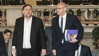 Junqueras i Romeva , en la seva compareixença al Parlament, el gener passat