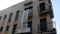 Edifici del barri de Gràcia el passat més de juliol